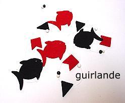 fish guirlande, redblack