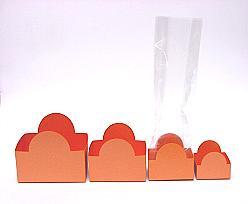 Halfmoon tray orange L82xW50xH62mm