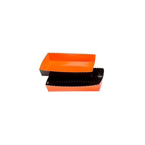 Dessert tray 130x90x35mm orange-black