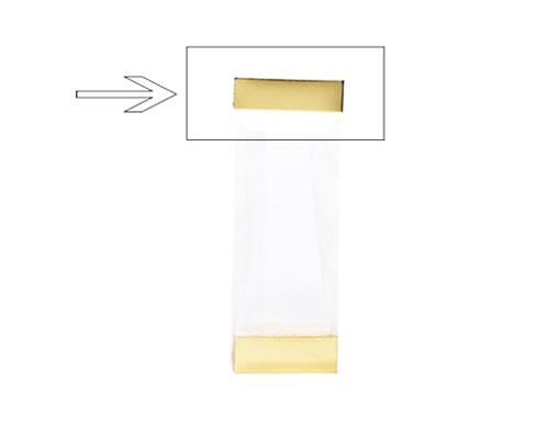 Arosa clip 80mm shiny gold