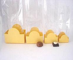 halfmoon tray gold yellow L60xW50xH47mm