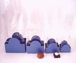 halfmoon tray bluetwist L60xW50xH47mm
