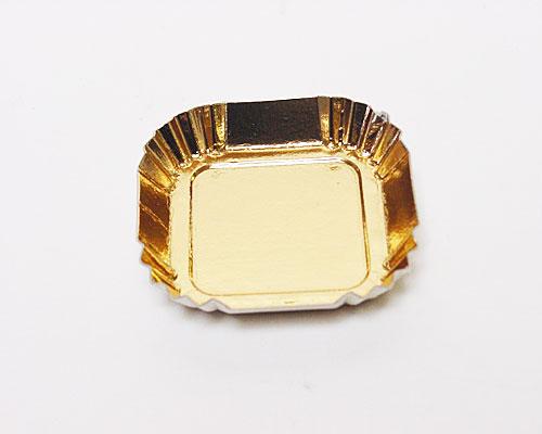 Bordje square 55x55mm gold
