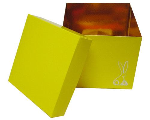 Cubebox Bunny L130xW130x115mm Jaune laqué