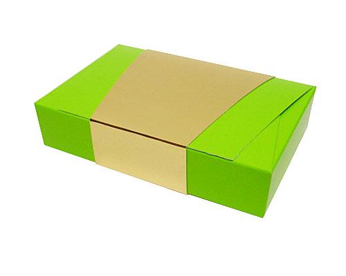 Ballotin enveloppe 184x117x35mm vert pomme laque