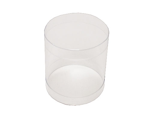 PVC round D50xH50mm transparant