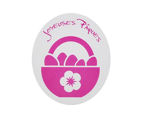 Joyeuses paques label fuchsia 500pcs