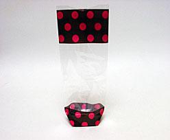 bag polka choco rose 100x220mm