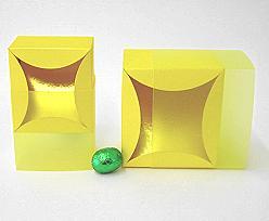 bilbao large 100x100x70mm citrus/yellow