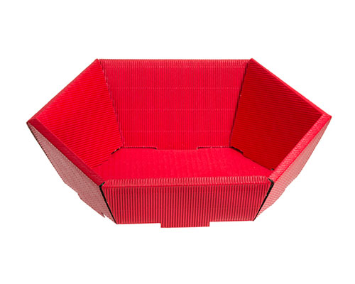 Basket hexa small L245xW205mm front H60mm/ back H105mm red