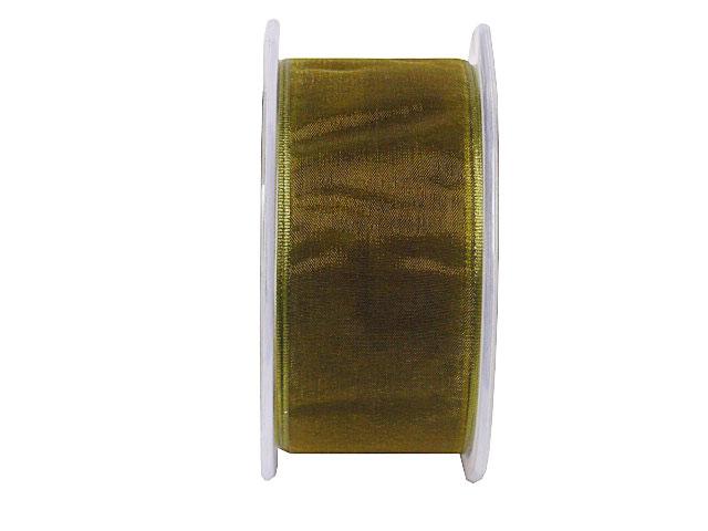 organza wired edge, xmasgreen