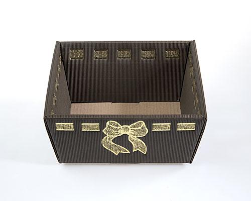 Basket rectangular small L210xW160xH95mm brown exquisit