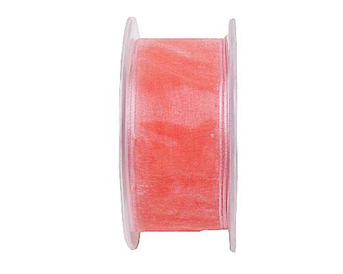 organza wired edge, peach