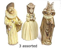 venetian figures ceramic ass. ivorygold