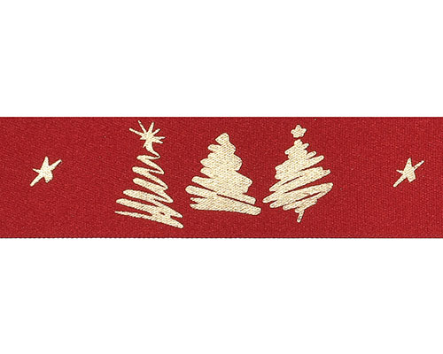 DoubleFaceSatin 3 xmastree red/gold