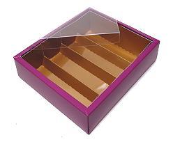 Macaron box 4 row purple copper Djerba