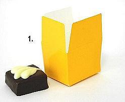 Box 1 choc, ocre yellow shine