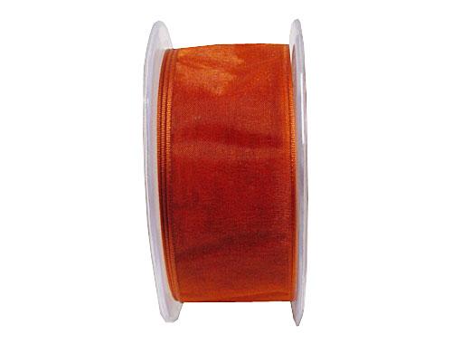 organza wired edge, burned orange