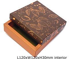 box cacao, coppertin / bronztwist top