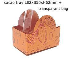 halfmoontray cacao, coppertin