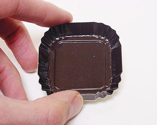 Bordje square 55x55mm brown