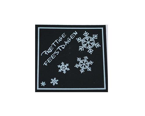 label x-mas prettige feestdagen black with silver 500pcs