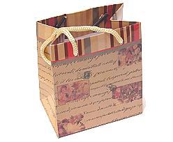 Retro Santa paperbag small  beige