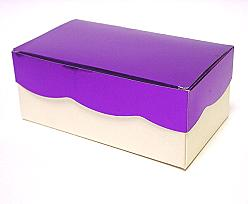 Golfdoos 500gr 165x90x60mm ivory purple