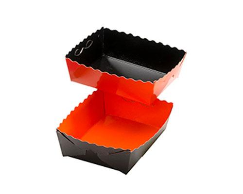 Dessert tray 100x75x35mm orange-black