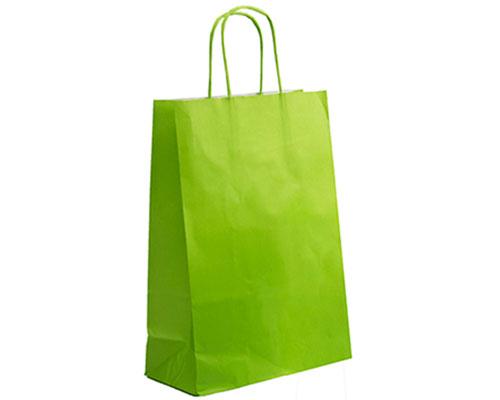 Paper bag curled handle L220x100x310mm limoen