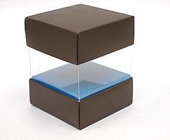 Skylinebox L80xW80xH90mm exterior Kreta brown-blue