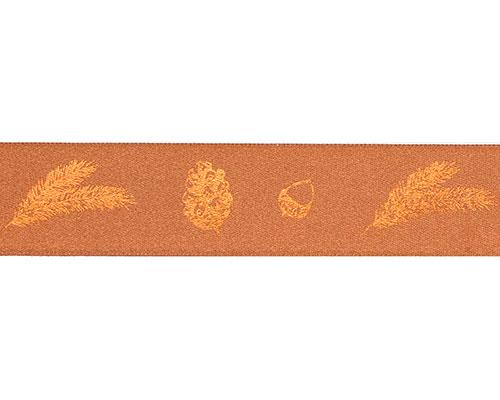 DoubleFaceSatin autumn figures 25mm/100mt copper