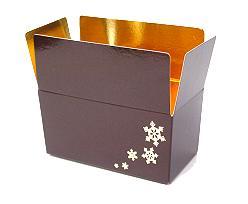 Ballotin Icestars 250gram 117x61x55mm Chocolat Laqué
