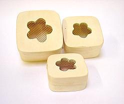 Box wood , set of 3, price per set, design flower