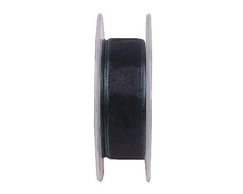 Organza wired edge , anthracite