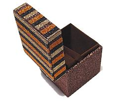 Box Classy window square middle brown