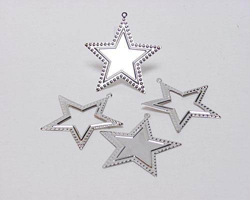 Christmas star metal silver