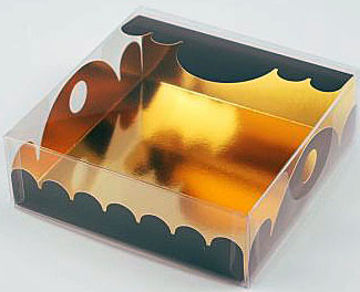 box Marquis square small noir laque