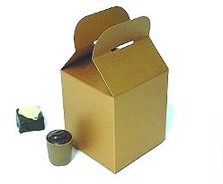 Cubebox handle small 75x75x75mm coppertin with goldcarton