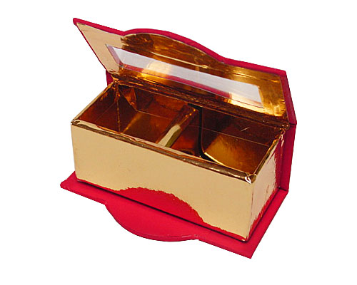 Box window 2 bonbon L100xW55xH35mm red