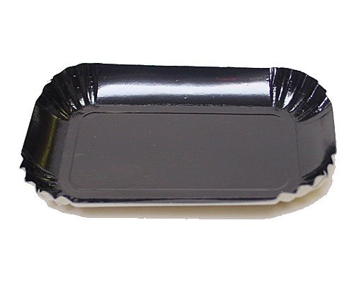 Bordje rectangular 80x40mm black