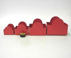 halfmoon tray red L120xW70xH90mm