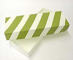 PVC L220xW75xH30mm green white striped