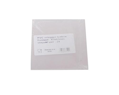 PVC sheet for luxbox 65x65mm / pack 24 pcs