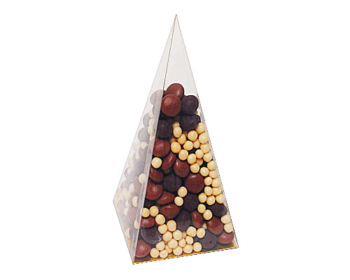 PVC pyramide smal L70xW70xH150mm + gold cardboard
