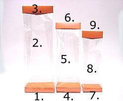 Arosa clip 100mm orange