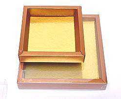 Windowbox 126x126x24mm interior coppertin