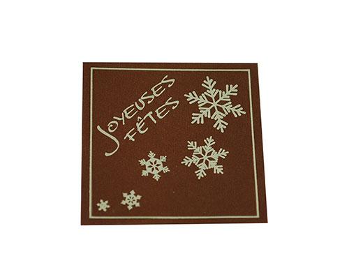 label x-mas joyeuses fetes brown with gold 500pcs