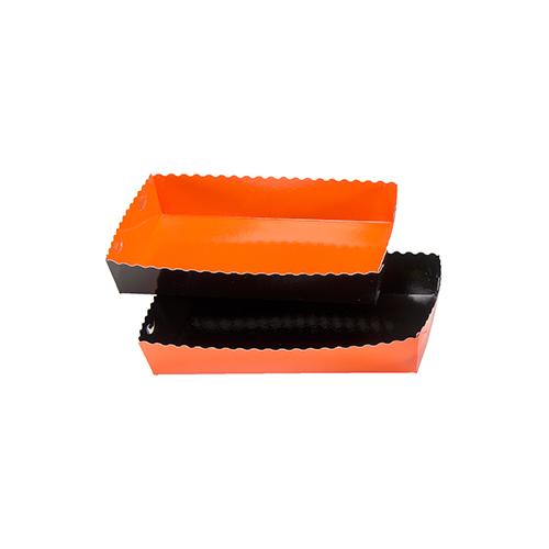 Dessert tray 190x120x35mm orange-black