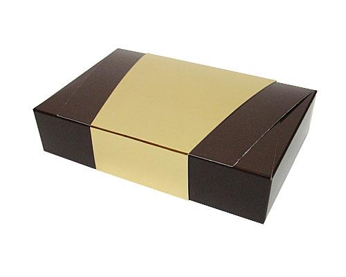 Ballotin enveloppe 184x117x35mm chocolat laque